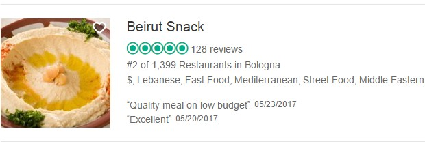 Beirut Snack on trip advisor